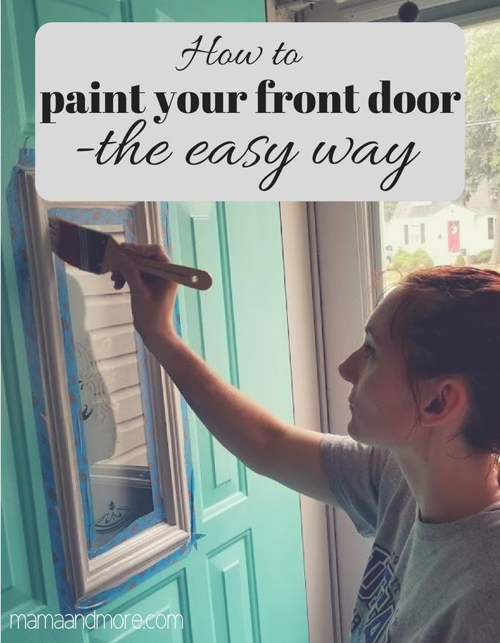 The EASY way to paint your front door