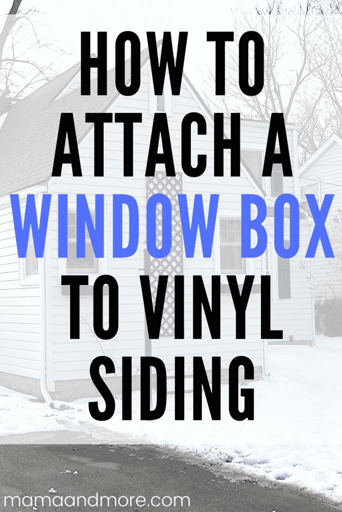 Window box on siding