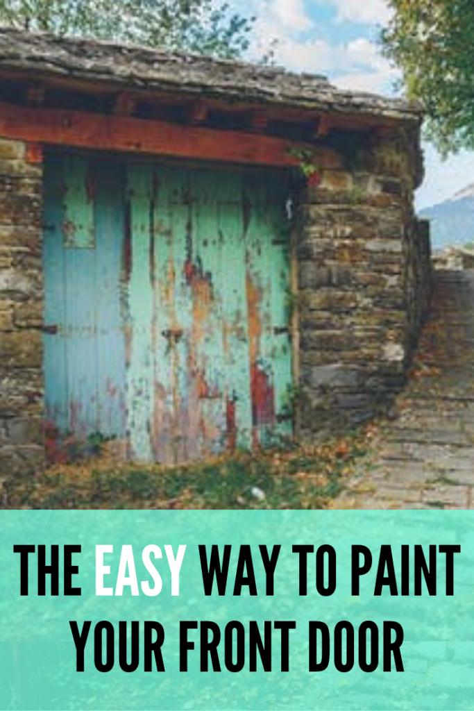 The easy way to paint your front door!
