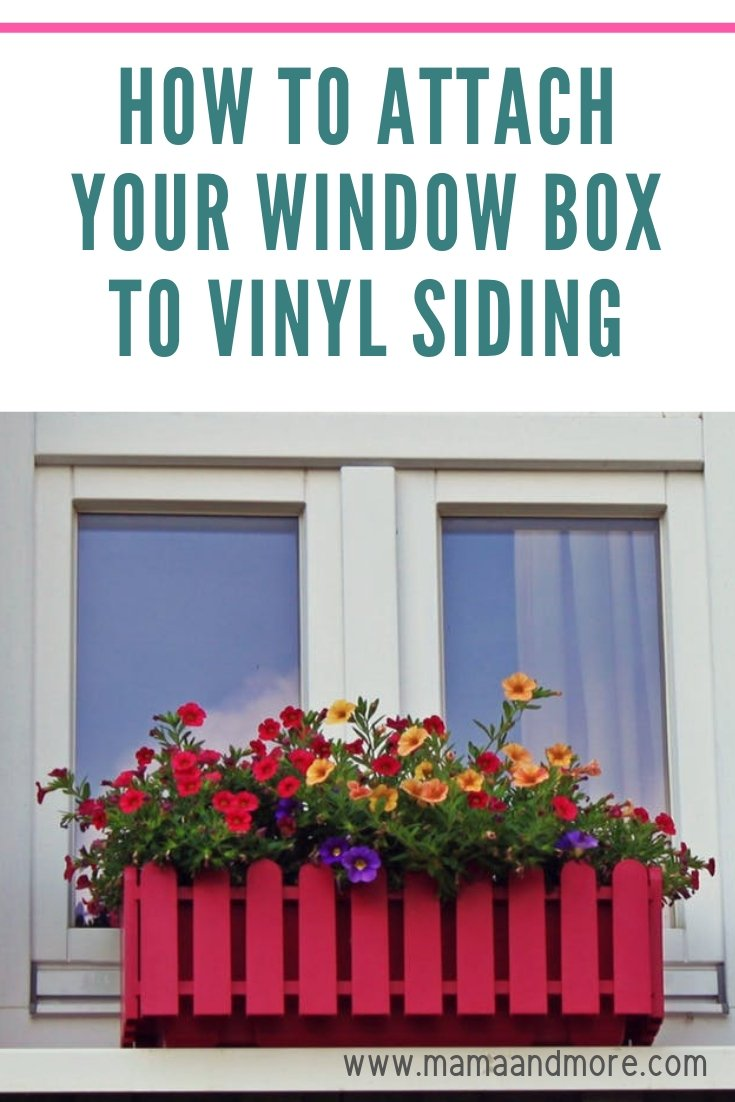 How to Attach a Window Box to Siding