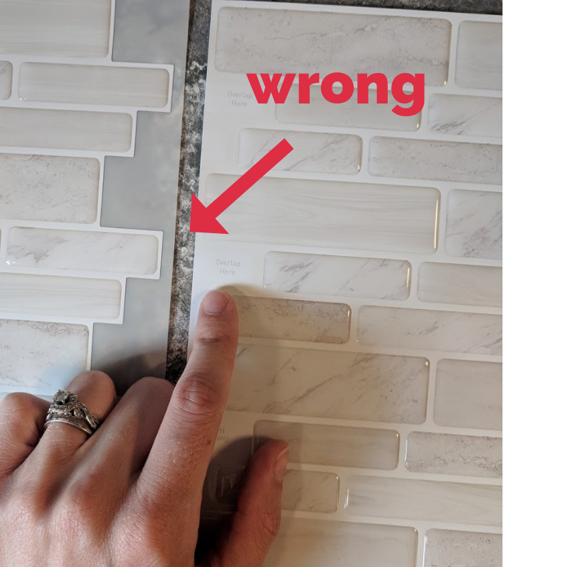 How to get a completely new backsplash on a budget in under 2 hours!