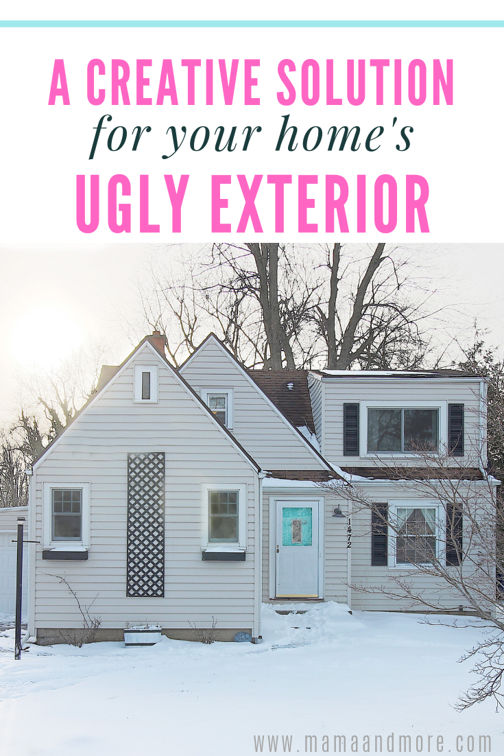 A Creative Solution for Your Home's Ugly Exterior
