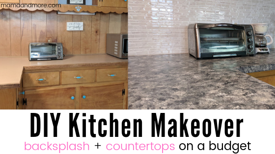Diy Kitchen Transformation Countertops And Backsplash