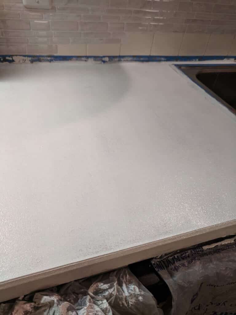 Paint countertops with acrylic paint