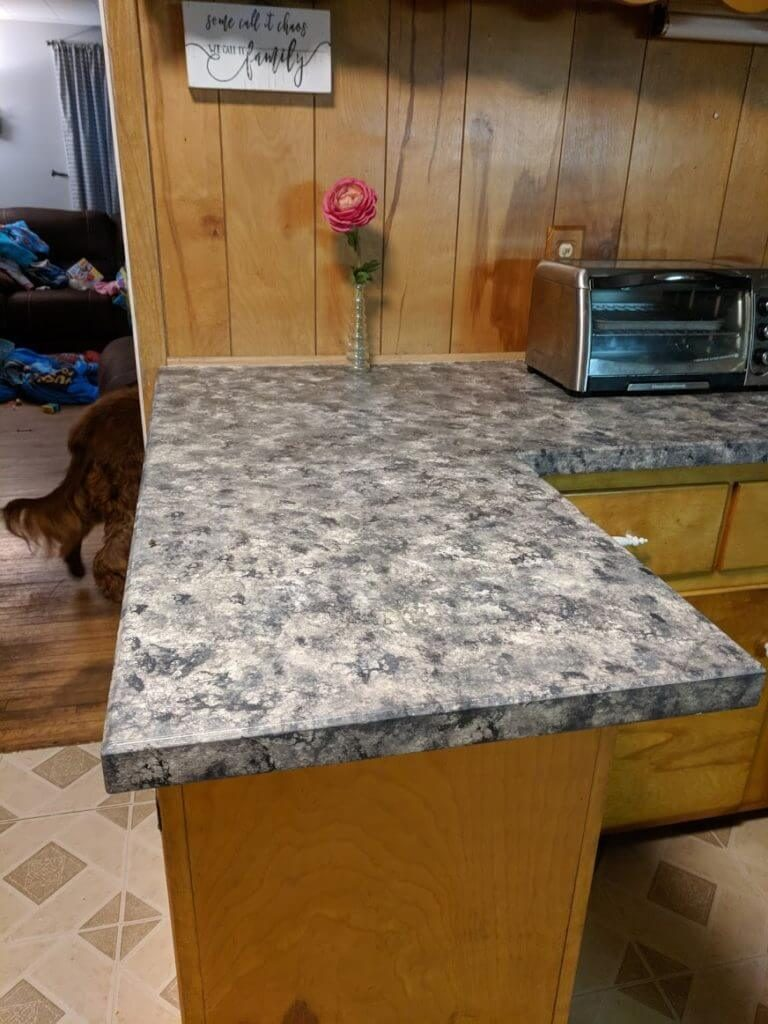Paint your countertops to look like granite