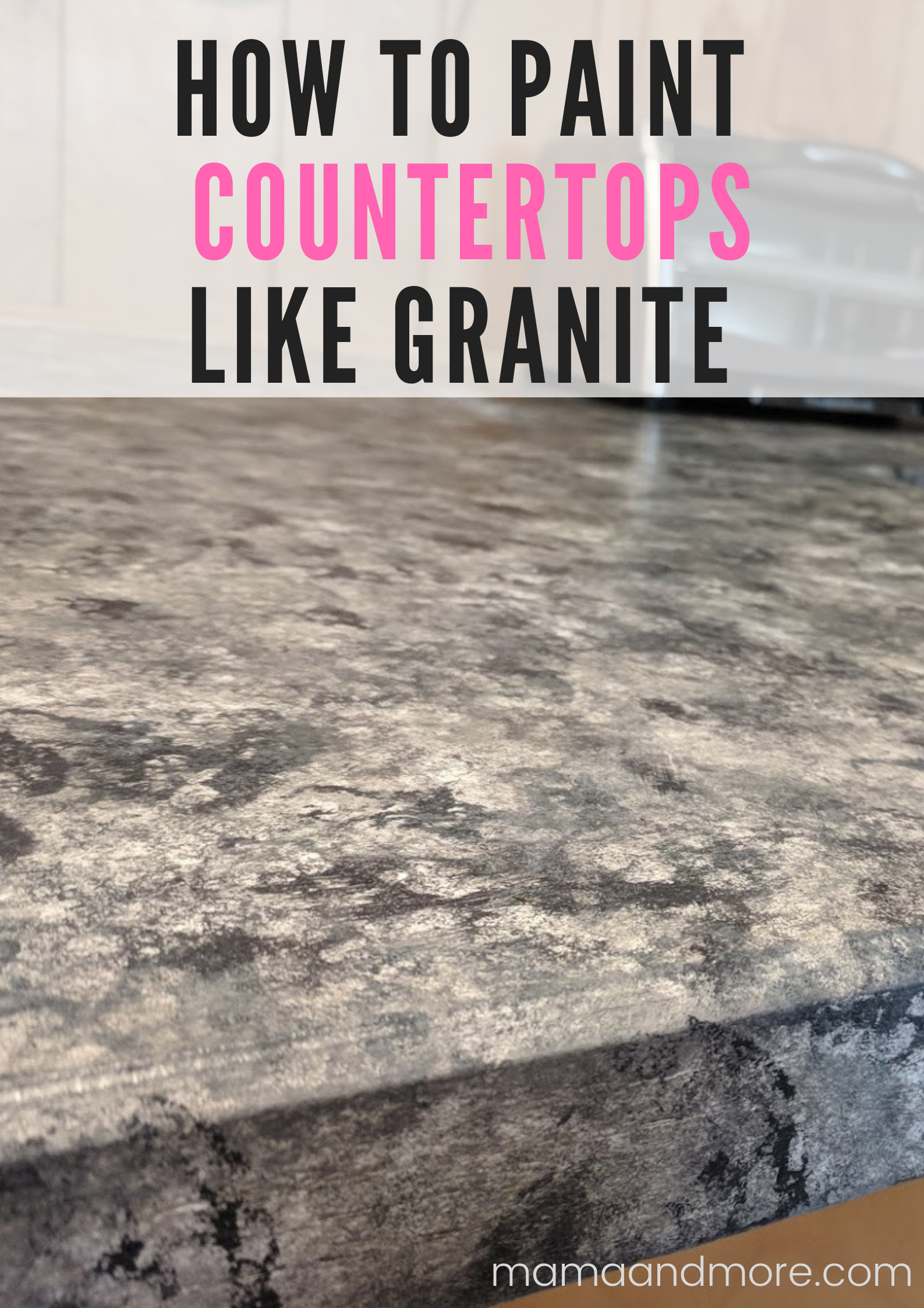How to Paint Your Countertops Like Granite