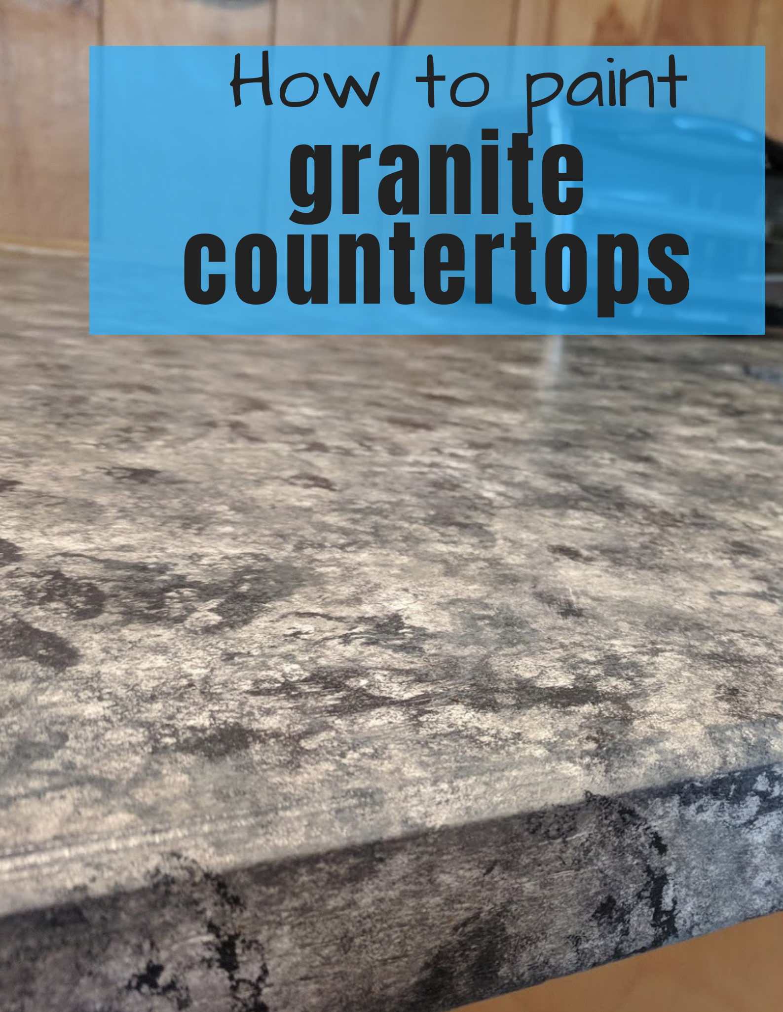 Paint Your Ugly Countertops To Look Like Granite