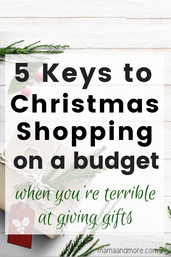 Such great information on how to give gifts on a really tight budget when you're terrible at giving gifts!