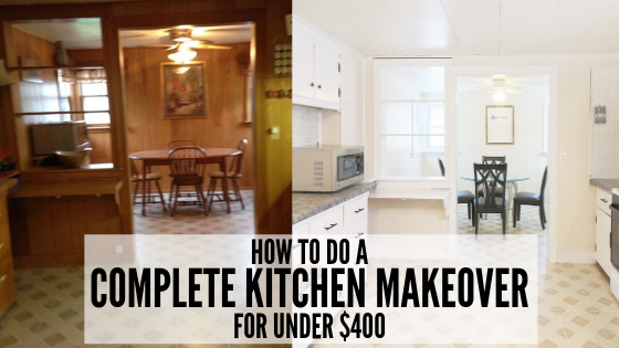 How to do a Complete Kitchen Makeover on a Tiny Budget (Under $400!)