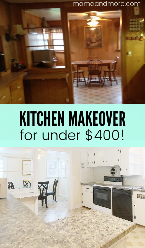 Amazing DIY kitchen makeover on a tiny budget!