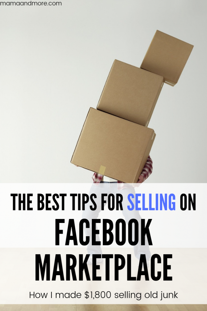 The best tips for selling on Facebook marketplace!