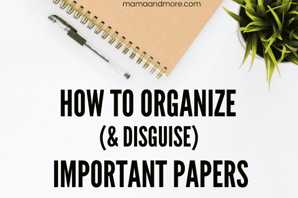 How to Organize & Disguise Important Papers