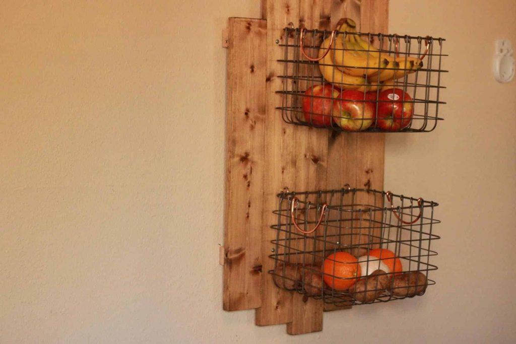 DIY Wall Hanging Fruit Basket