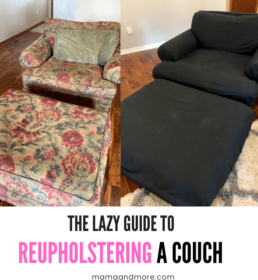 The Lazy Guide to Reupholstering a Couch