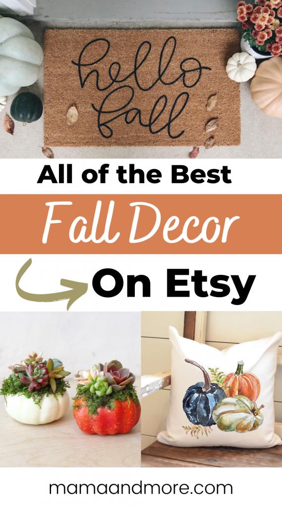 Best Fall Decor on Etsy