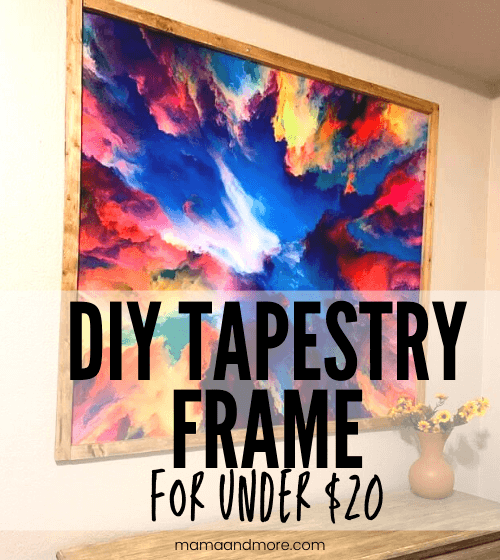 How to Make an Easy DIY Cheap Tapestry Frame