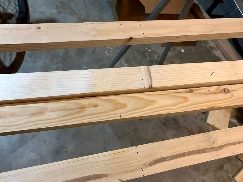 tapestry frame wood furring strips