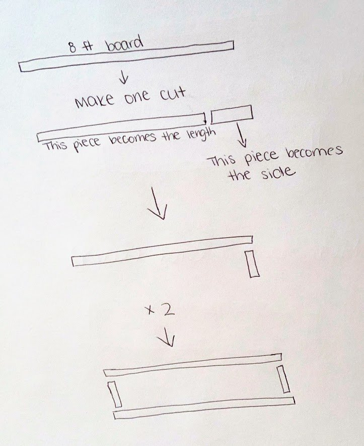 DIY floating rectangle shelf tutorial