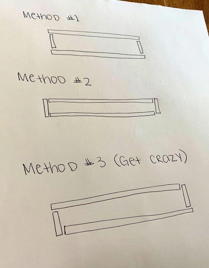 DIY floating rectangle shelf instructions