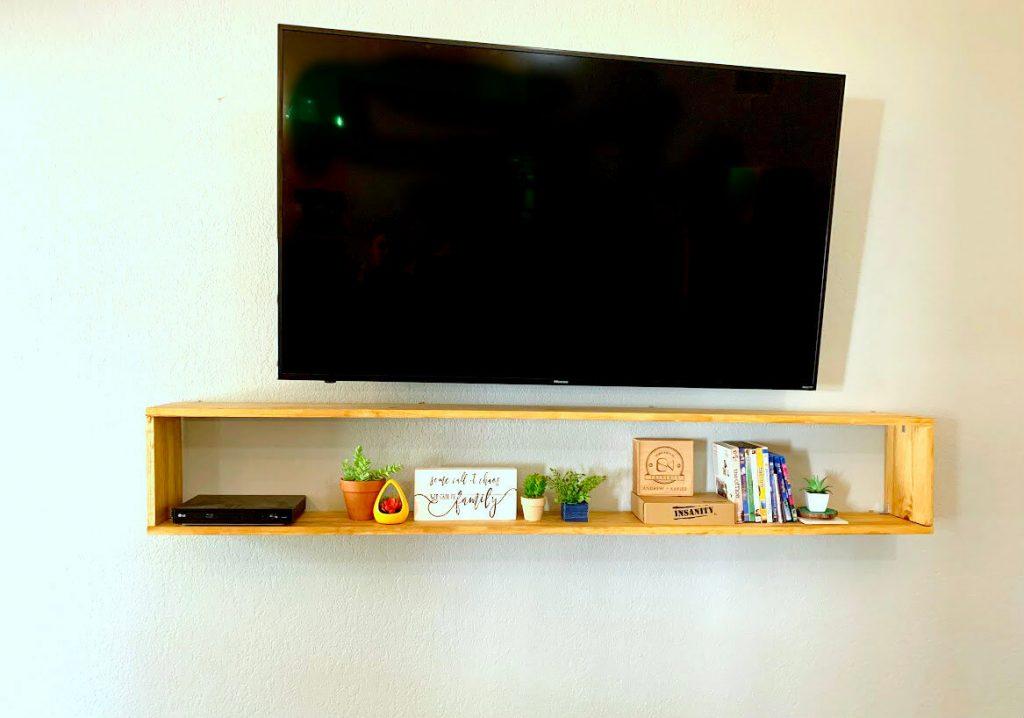 DIY floating rectangle shelf