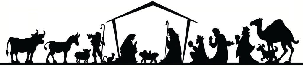 Printable nativity silhouette