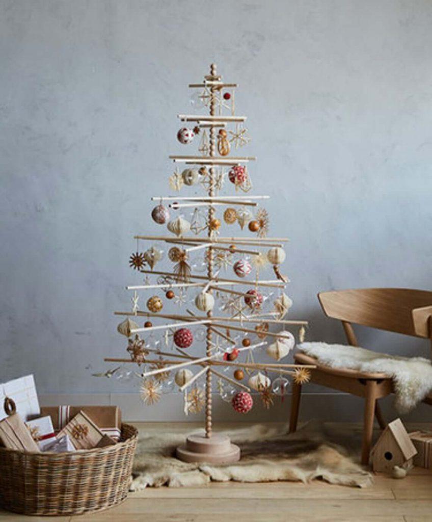 unique stick christmas tree