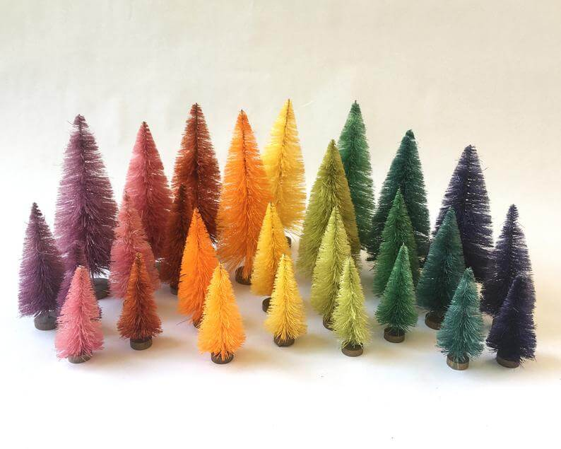unique christmas bottle brushes