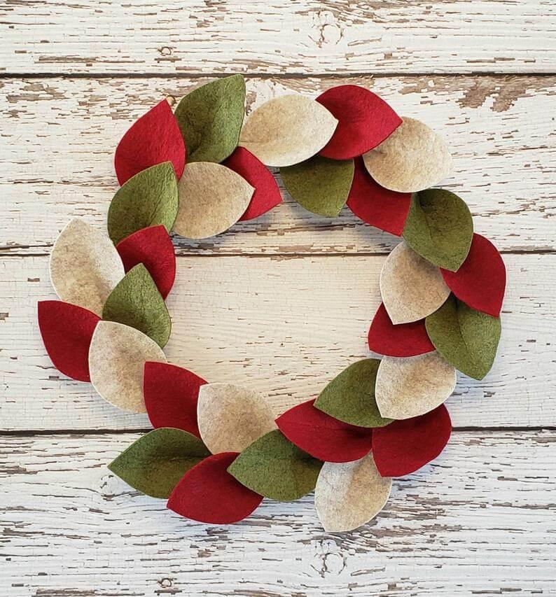 unique christmas decor felt wreath