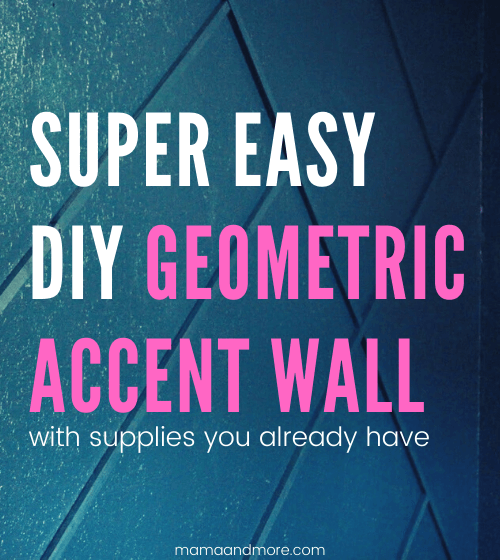 DIY Geometric Accent Wall (With Supplies You Already Have)