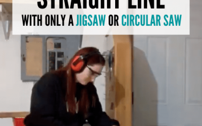 How to Cut a Straight Line with a Jigsaw or Circular Saw