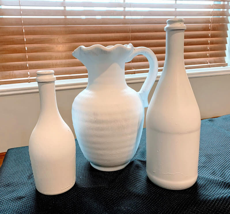 result of three painted vases