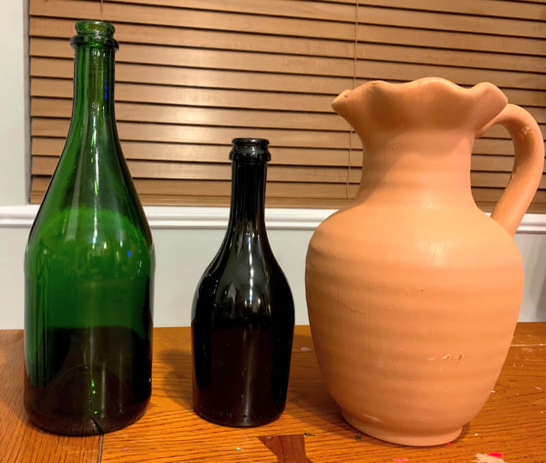 vases before paint