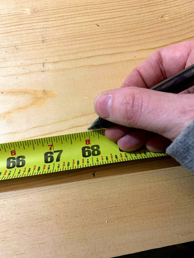 How to cut a straight line with a jigsaw, using a measuring tape