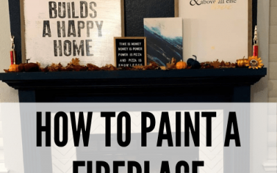 How to Easily Paint a Fireplace