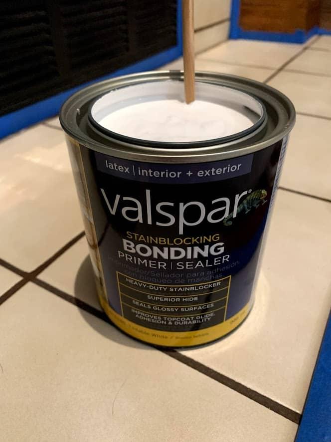 paint fireplace tile primer