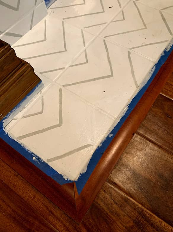 Mistake painting fireplace tiles