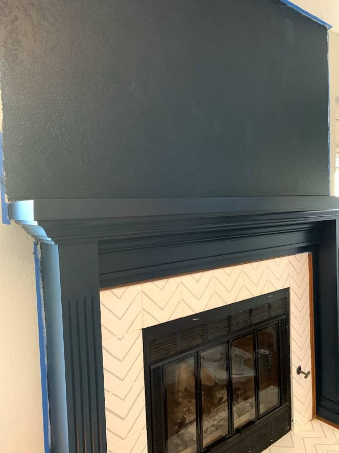 Paint on fireplace mantle