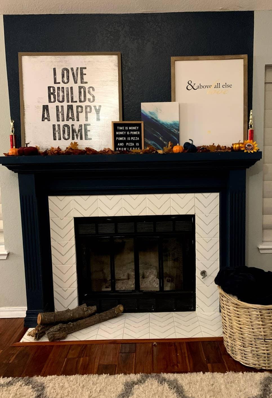 Fall fireplace decorations